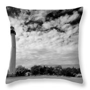 Lighthouse And Sky Throw Pillow