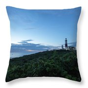 Lighthouse At Blue Hour Throw Pillow