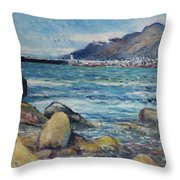 Lighthouse At Kalk Bay Cape Town South Africa 2016 Throw Pillow