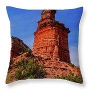Lighthouse At Palo Duro Canyon Throw Pillow