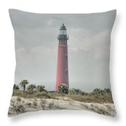 Lighthouse At Ponce Inlet Throw Pillow