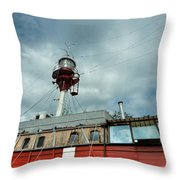 Lighthouse-boat Throw Pillow