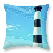Lighthouse Bodie Island Throw Pillow