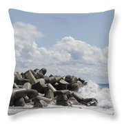 Lighthouse By The Bay Throw Pillow