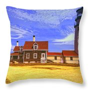Lighthouse Cape Cod Throw Pillow