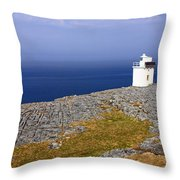 Lighthouse Cliff Throw Pillow
