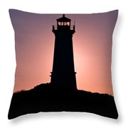 Lighthouse Eclipse Throw Pillow