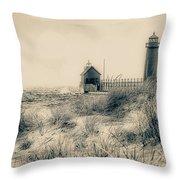Lighthouse Fade Throw Pillow