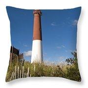 Lighthouse From Dunes Throw Pillow