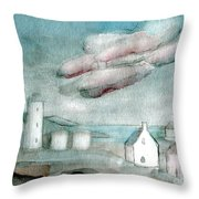 Lighthouse Harbour 1 Throw Pillow