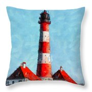 Lighthouse - Id 16217-152045-8706 Throw Pillow