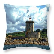 Lighthouse Ile Noire Throw Pillow