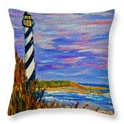 Lighthouse- Impressionism- The Coast Throw Pillow