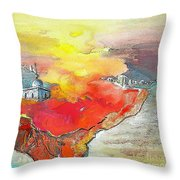 Lighthouse In Albir On The Costa Blanca Throw Pillow