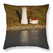 Lighthouse In Maine Throw Pillow