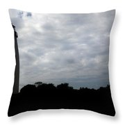 Lighthouse In Silhouette Throw Pillow