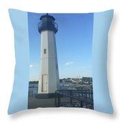Lighthouse In Texas Throw Pillow