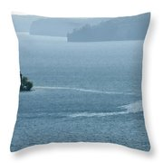 Lighthouse In The Bay Throw Pillow