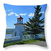 Lighthouse Landscape Four Throw Pillow
