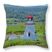 Lighthouse Landscape Three Throw Pillow