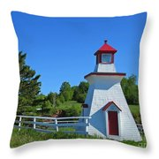 Lighthouse Landscape Two Throw Pillow