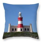Lighthouse Of Agulhas Throw Pillow