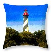 Lighthouse Of Saint Augustine Throw Pillow