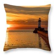 Lighthouse On Glass Throw Pillow