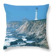 Lighthouse On The California Coast Throw Pillow