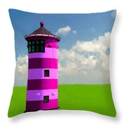 Lighthouse On The Island Throw Pillow