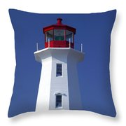 Lighthouse Peggy's Cove Throw Pillow