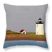 Lighthouse Provincetown 3 Throw Pillow