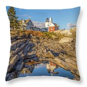 Lighthouse Reflection Throw Pillow