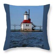 Lighthouse Restored Throw Pillow