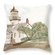 Lighthouse Sketch Throw Pillow