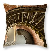 Lighthouse Stairs Cape Blanco Oregon 2 Throw Pillow