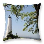 Lighthouse Summer Throw Pillow