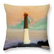 Lighthouse Sunrise Throw Pillow