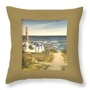 Lighthouse Uruguay  Throw Pillow