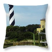 Lighthouse Water View Throw Pillow