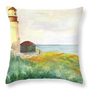 Lighthouse-watercolor Throw Pillow
