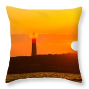 Lighthouse With Flare Throw Pillow