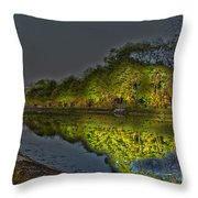 Lighting The Erie Canal Throw Pillow