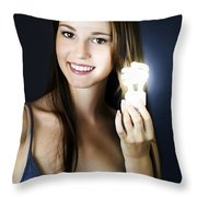 Lighting The Way To Innovation Throw Pillow