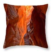 Lighting The Way Underground Throw Pillow