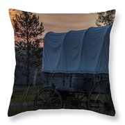 Lighting The West  Throw Pillow