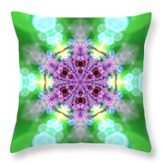 Lightmandala 6 Star 3 Throw Pillow