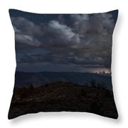 Lightning And Light Trails Throw Pillow