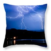 Lightning Blues Throw Pillow