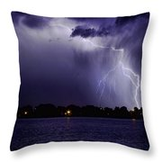 Lightning Bolt Energy Color Throw Pillow